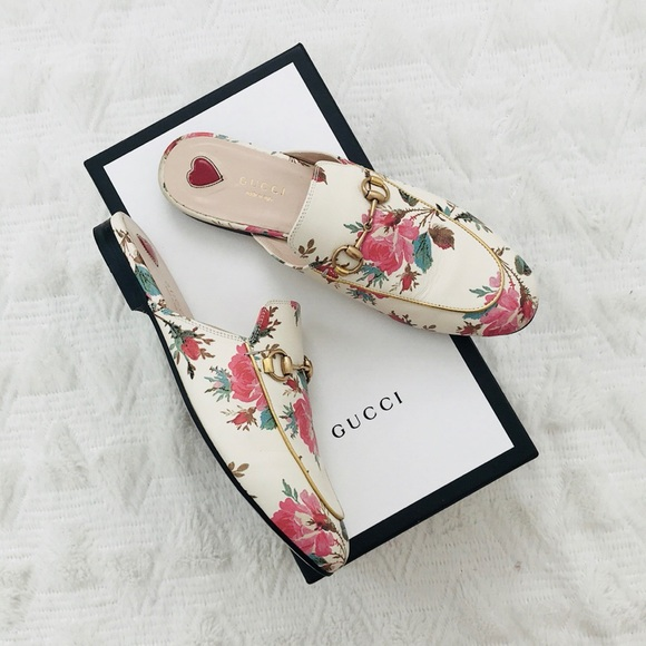 40155a1b981 Gucci Shoes - Gucci Princetown Floral Leather Loafers